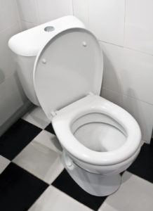 Closeup of toilet