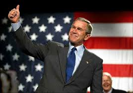 president bush thumbs up