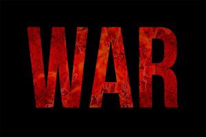 War Typography Grunge Style Design