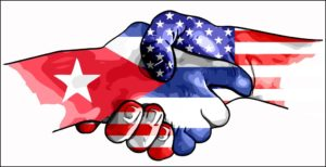 US cuba handshake