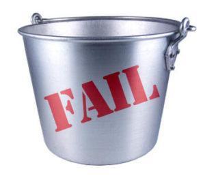fail bucket