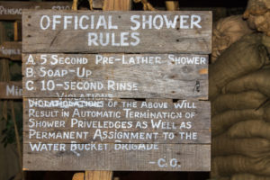 Official shower rules