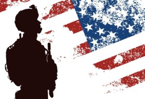 soldier silhouette and flag dpc