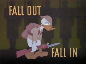 disney donald duck in the Army