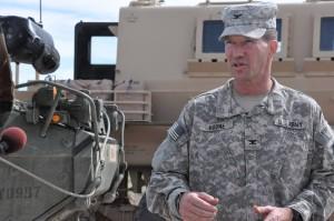 Col. Hodne in his prescribed field uniform.