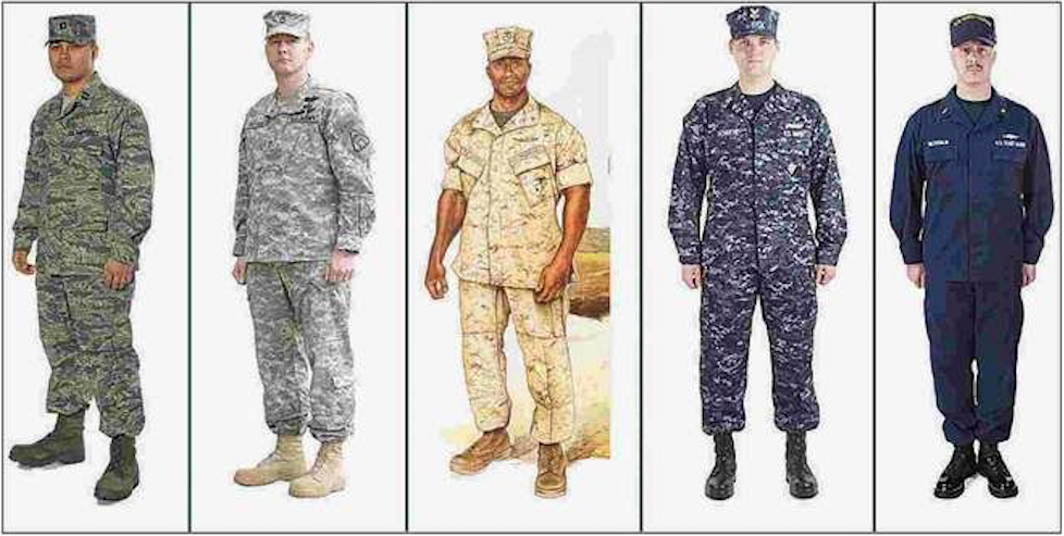 vote should all branches of the military use the same uniform