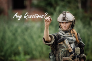 female solider any questions