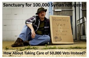 refugees vs homeless vets