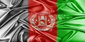 Afghanistan Flag. Flag with a beautiful glossy silk texture.