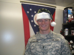 Early 1LT Days in Iraq at Christmas time.