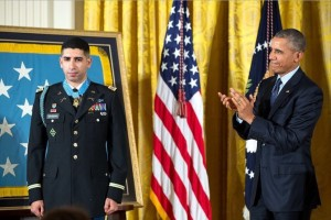 "President Barack Obama awarded (Ret.) Army Capt. Florent Groberg the honor for what the White House called ""his selfless service"" during a deadly attack in Kunar Province, Afghanistan, in August 2012."