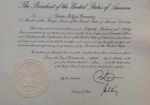 donna hernandez certificate