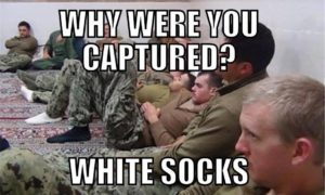 captured for white socks