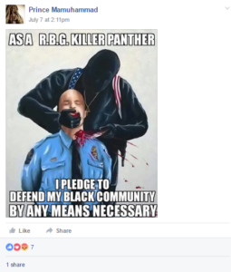 murdered cop OK on Facebook