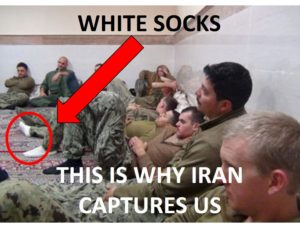white socks Iran capture