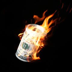 burning money adobe
