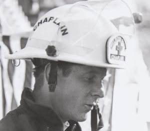 Chaplain Bob Ossler served 5 tours of duty at Ground Zero during the clean-up. Photo Credit: Mary Gepana Eble