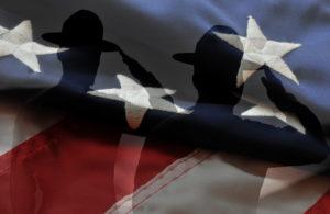 Saluting Marines