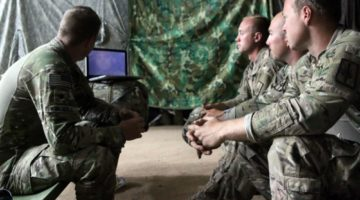 soldiers watching YouTube