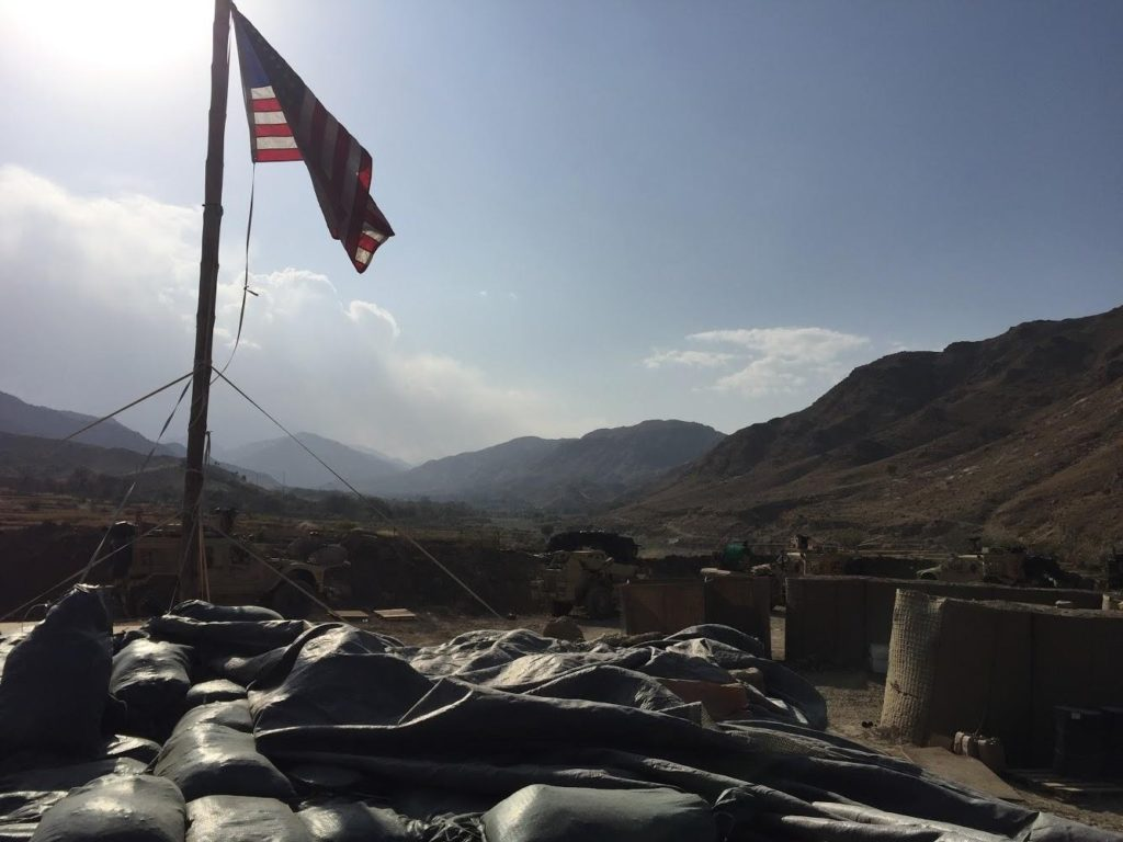 Afghanistan and American Flag